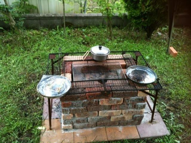 Печка мангал для дачи своими руками