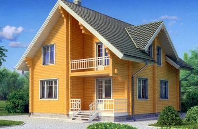 Дизайн дома из сруба внутри